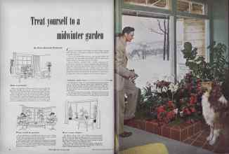 Better Homes & Gardens from 1949 | Treat yourself to a midwinter garden